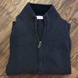 Calvin Klein Sweaters - Calvin Klein dark grey zip up